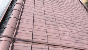 桐生市新里町K様邸 屋根塗装の上塗り2回目