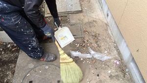 桐生市新里町K様邸 塗装後の清掃作業