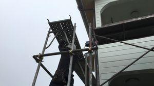 前橋市柏倉町H様邸 塗装前の足場仮設工事