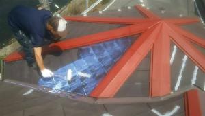 高崎市貝沢町A様邸 屋根塗装下塗り1回目