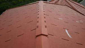高崎市貝沢町A様邸 屋根塗装上塗り1回目完成