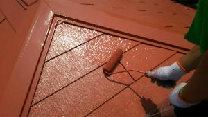 高崎市貝沢町A様邸 屋根塗装上塗り2回目