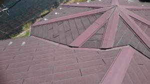 高崎市貝沢町A様邸 屋根塗装前 屋根アップ