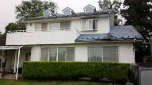 沼田市岡谷町M様邸 外壁・屋根塗装前 正面