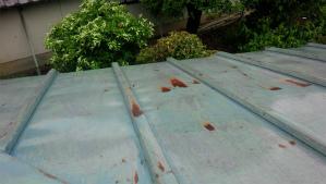 前橋市青梨町M様邸 トタン屋根塗装前1