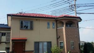 高崎市貝沢町A様邸 屋根塗装完成 家全体