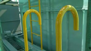安中市板鼻 M工場様 貯水タンクタラップ塗装