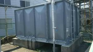 安中市板鼻 M工場様 貯水タンク塗装完成