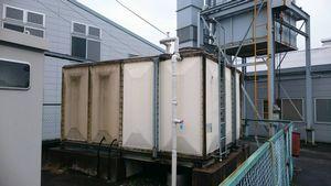 安中市板鼻 M工場様 貯水タンク塗装前