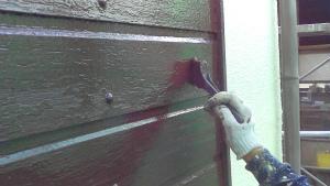 高崎市江木町S様邸 付帯部戸袋塗装上塗り