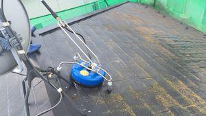 茨城県古河市S様邸 屋根の洗浄作業