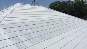 茨城県古河市S様邸 屋根塗装下塗り1回目完成