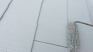 茨城県古河市S様邸 屋根塗装下塗り2回目完成