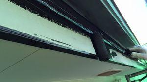 茨城県古河市S様邸 付帯部破風板下塗り