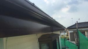 茨城県古河市S様邸 付帯部破風板上塗り完成