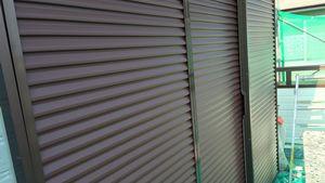 茨城県古河市S様邸 付帯部雨戸上塗り