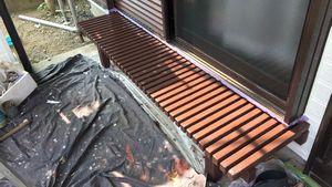 茨城県古河市S様邸 付帯部縁台塗装完成