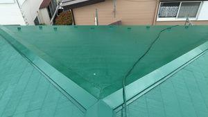茨城県古河市S様邸 屋根塗装工事上塗り2回目