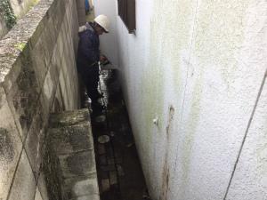 前橋市富士見町I様邸 外壁洗浄中