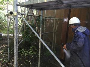 長野県軽井沢町S様邸 外壁洗浄