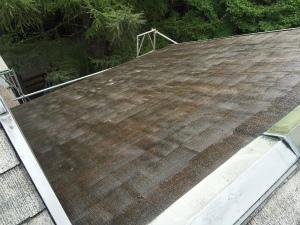 長野県軽井沢町S様邸 屋根塗装下塗り2回目完了