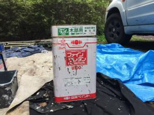 長野県軽井沢町S様邸 ドアの塗料