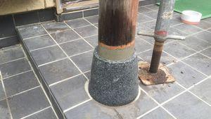 高崎市新町M様邸 玄関柱補修作業完成