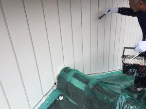 高崎市倉賀野町T様邸 外壁上塗り刷毛