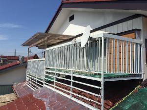 高崎市倉賀野町T様邸 2Fテラス下塗り完成