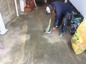 太田市台之郷O様邸 工事後の清掃作業