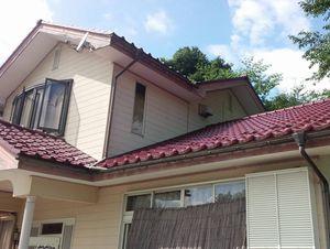 吾妻郡高山村T様邸 外壁とテラス塗装前②