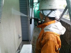 前橋市総社町M様邸 外壁洗浄作業