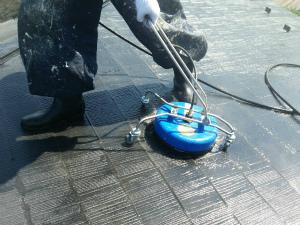 前橋市総社町M様邸 屋根洗浄作業