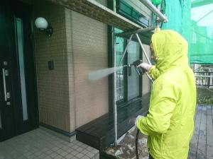 伊勢崎市喜多町T様邸 外壁洗浄作業