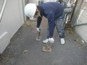 前橋市大手町マンション 清掃作業