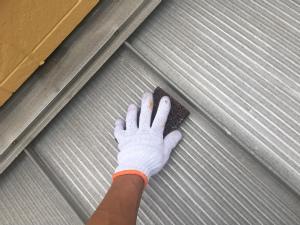 高崎市倉賀野町A様邸 屋根塗装前ケレン作業