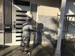 吾妻郡高山村T様邸 外壁洗浄作業