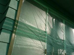 前橋市天川原町S様邸 外壁塗装前の養生