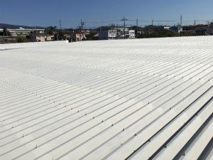 前橋市富士見町Y工場様 大屋根下塗り完成