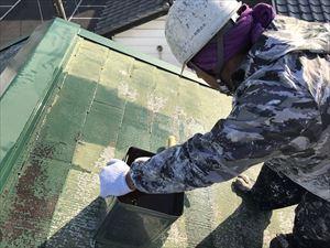 高崎市飯塚町M様屋根中塗り工事
