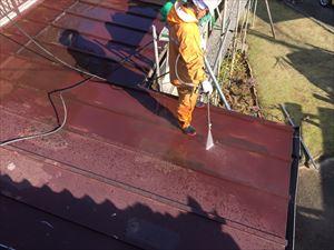群馬県前橋市K様邸屋根洗浄作業