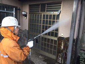 群馬県前橋市K様邸外壁洗浄作業