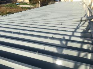前橋市富士見町Y工場様 下屋根上塗り完成