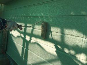 群馬県前橋市S様邸外壁上塗り