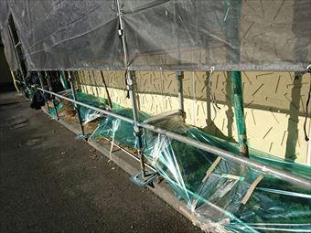 前橋市日輪寺町F様邸植木ビニール養生完成