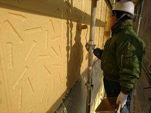 前橋市日輪寺町F様邸外壁上塗り作業