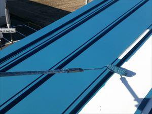 前橋市上泉町J工場様屋根上塗り1回目塗装