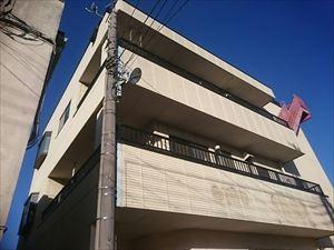 太田市飯田町商業ビル外壁屋根塗装工事前②