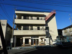 太田市飯田町商業ビル外壁屋根塗装工事前①