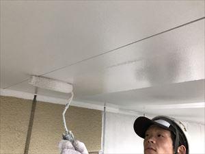 太田市飯田町商業ビル軒天下塗完成